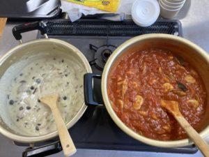 里芋ニョッキとクリームスープ
