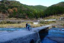 沈下橋でサイクリング